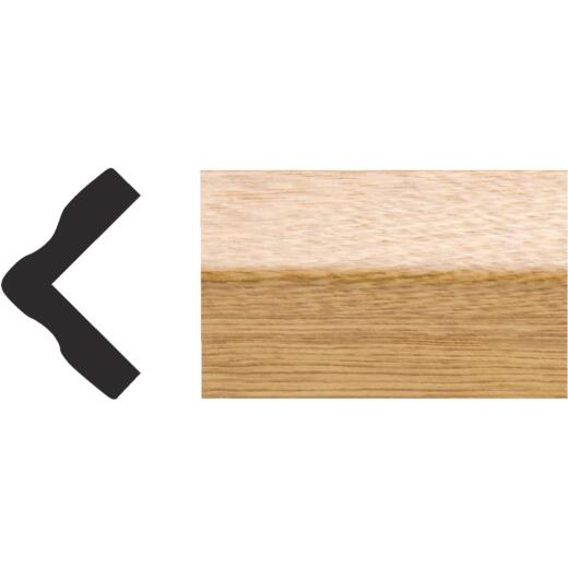 Royal 1 In. x 1 In. x 8 Ft. Imperial Oak PVC Interior Outside Corner Molding