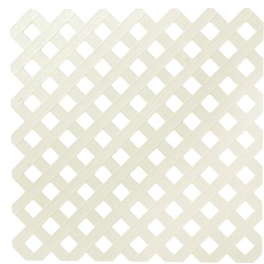 Dimensions 4 Ft. W x 8 Ft. L x 3/16 In. Thick Almond Vinyl Privacy Lattice Panel