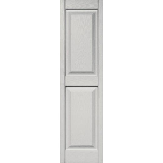 Builders Edge 15 in. x 55 in. Paintable Panel Shutter, (2-Pack)