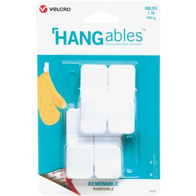 Velcro Brand Hangables 1 Lb. Capacity White Removable Small Hook (4 Count)