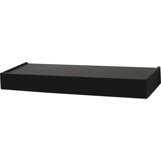 John Sterling Corp 24 In. Black Floating Decorative Shelf