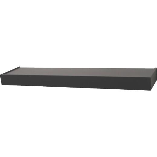 John Sterling Corp 36 In. Black Floating Decorative Shelf