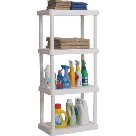 Contico 48 In. x 22 In. x 14 In. 4-Tier White Resin Plastic Shelving