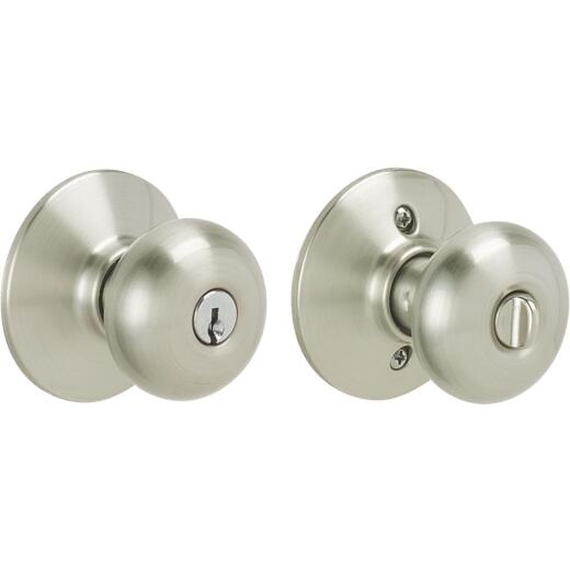 Schlage Plymouth Satin Nickel Entry Door Knob