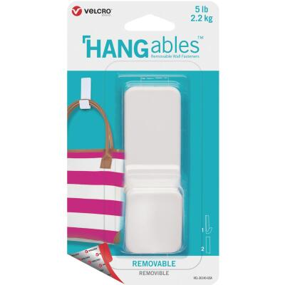 Velcro Brand Hangables 5 Lb. Capacity White Removable Large Hook