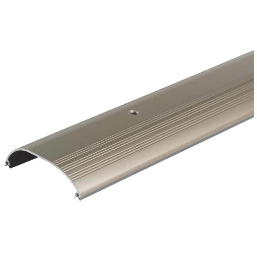 "M-D Ultra High Dome 72"" L x 4"" W x 1"" H Satin Nickel Threshold"