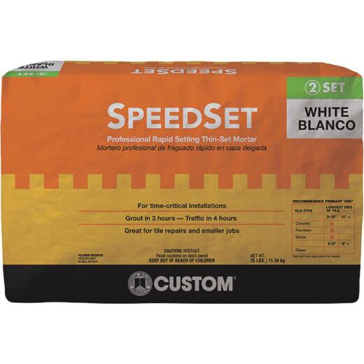 Custom Building Products 25 Lb. White SpeedSet Fortified Thin-Set Mortar