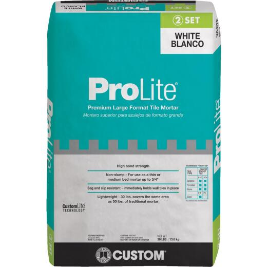 Custom Building Products ProLite 30 Lb. White Tile & Stone Mortar