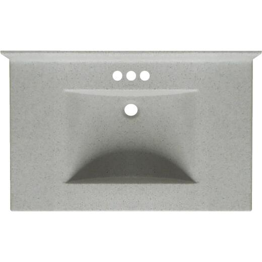 Imperial Marble Ventana 31 In. W x 22 In. D Satin Stone Cultured Marble Vanity Top with Wave Bowl