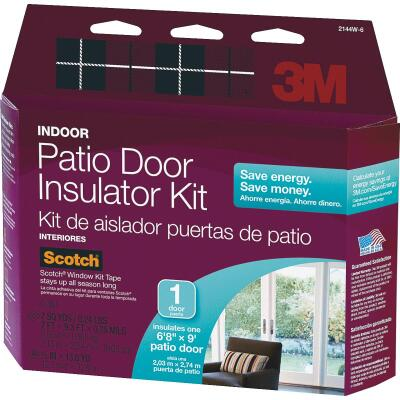 3M Indoor 84 In. x 112 In. Patio Door Insulation Kit