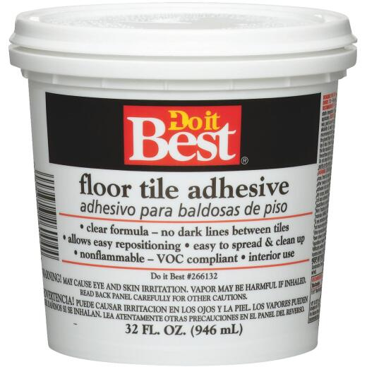 Do it Best Clear Thin Spread Floor Tile Adhesive (Quart)