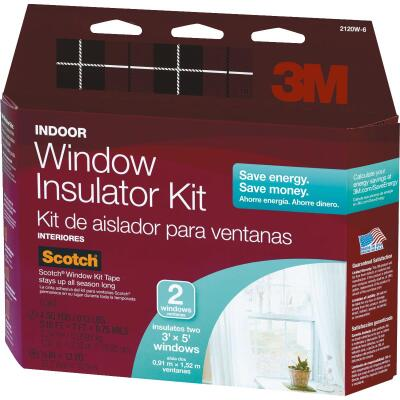 3M Indoor 62 In. x 84 In. Window Insulation Kit, (2-Pack)