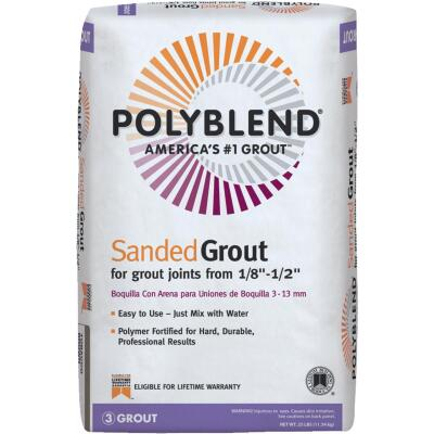 Custom Building Products Polyblend  25 Lb. Tobacco Brown Sanded Tile Grout