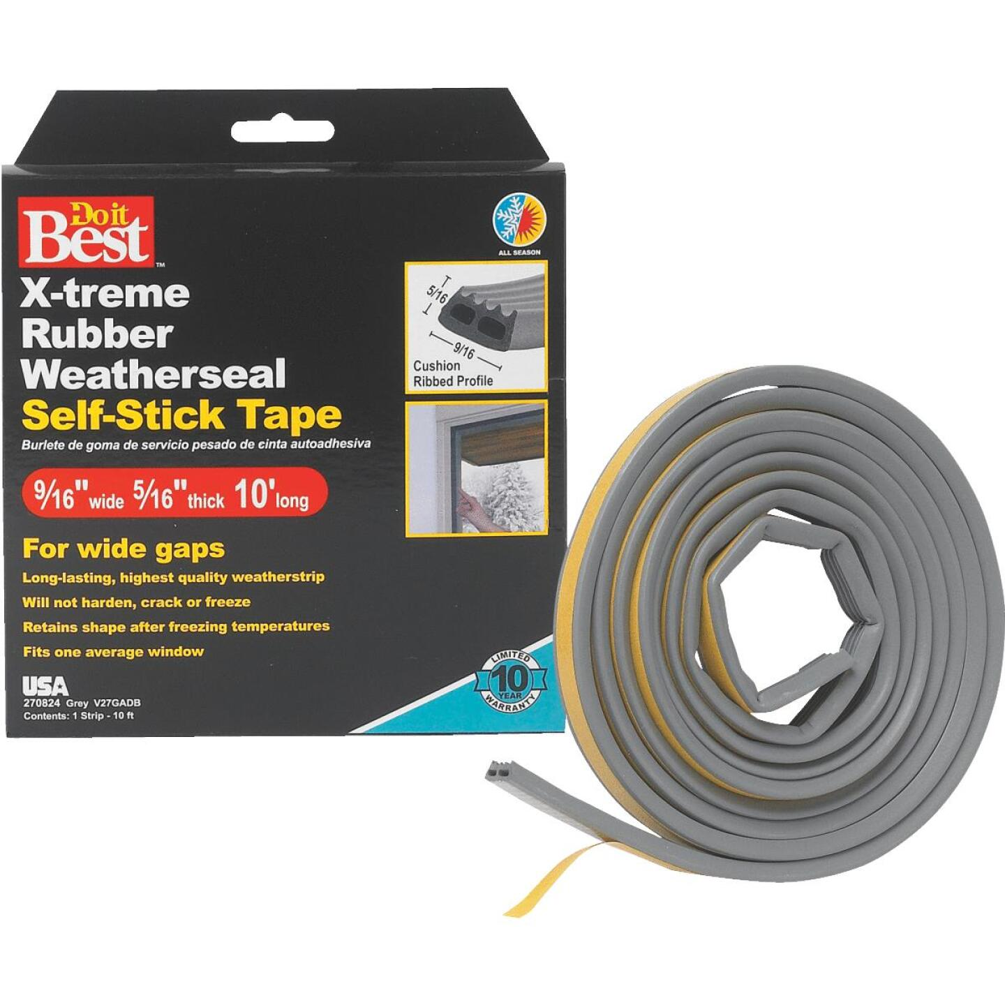 Do it Best 9/16 In. x 10 Ft. Gray Wide Weatherseal Tape Image 1