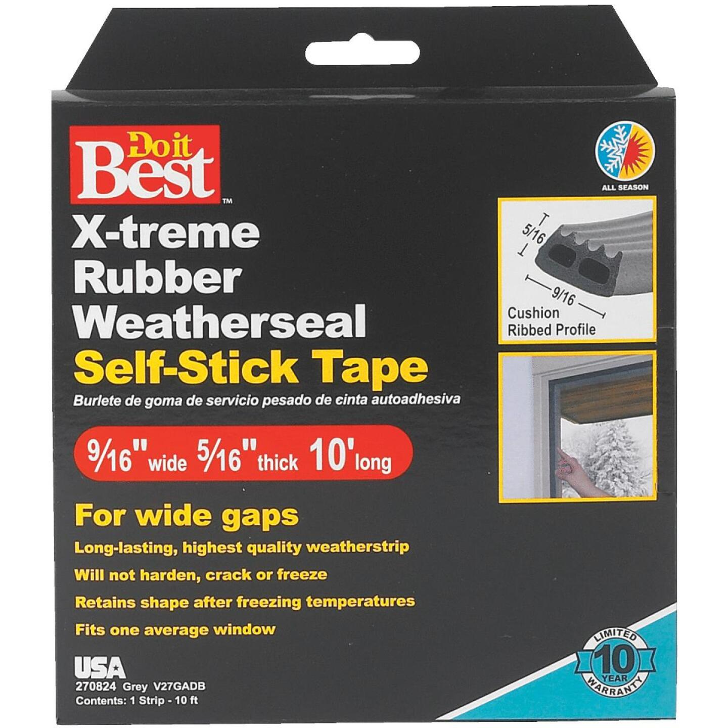 Do it Best 9/16 In. x 10 Ft. Gray Wide Weatherseal Tape Image 2