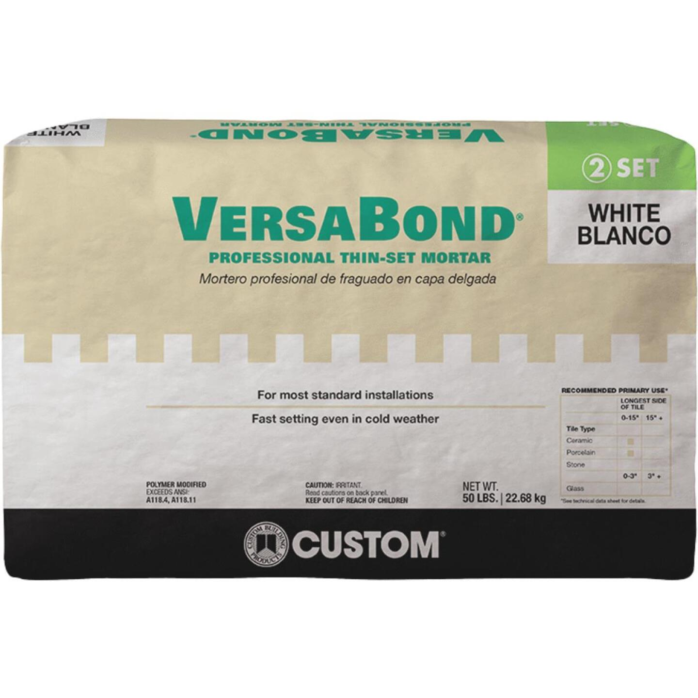 Custom Building Products VersaBond 50 Lb. White Fortified Thin-Set Mortar Image 1