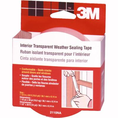 3M 1-1/2 In. x 30 Ft. Clear Weatherseal Tape