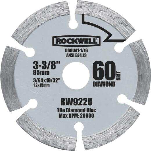 Rockwell VersaCut 3-3/8 In. Segmented Rim Dry Cut Diamond Blade