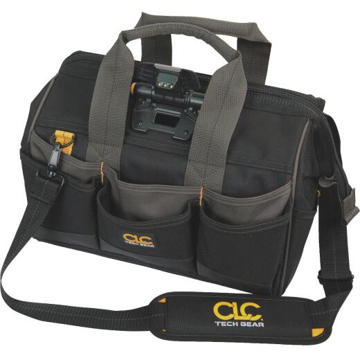 CLC Tech Gear 29-Pocket 14 In. Lighted Bigmouth Tool Bag
