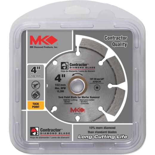 MK Diamond Contractor 4 In. Segmented Rim Dry Cut Tuck Point Diamond Blade