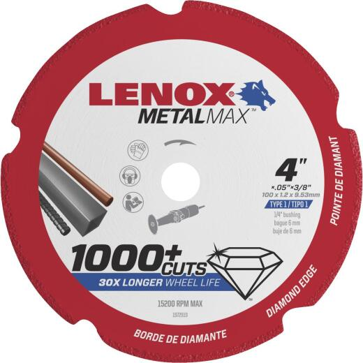 Lenox MetalMax 4 In. Segmented Rim Dry Cut Diamond Blade with 3/8 In. Arbor
