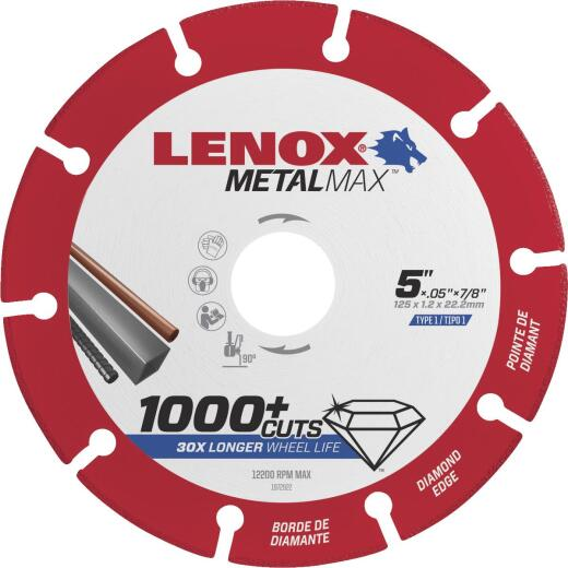 Lenox MetalMax 5 In. Segmented Rim Dry Cut Diamond Blade