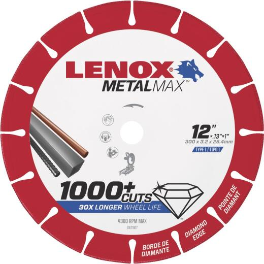 Lenox MetalMax 12 In. Segmented Rim Dry Cut Diamond Blade