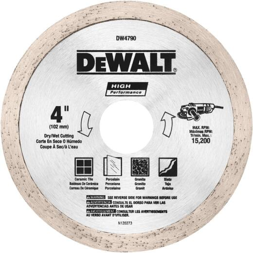 MK Diamond Contractor 4 In. Continuous Rim Wet Cut Diamond Blade