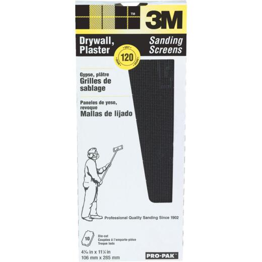 3M ProPak 120 Grit 4-3/16 In. x 11-1/4 In. Precut Drywall Sanding Screen (10 Pack)