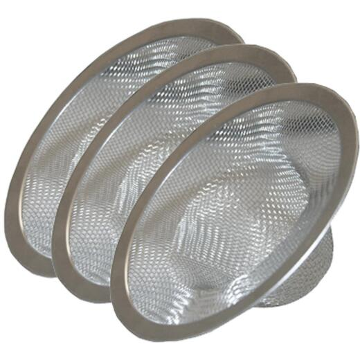 Lasco Assorted Size Stainless Steel Drain Strainer (3-Pack)