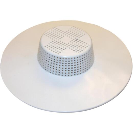 Lasco 1-1/2 In. White Hair Snare Tub Drain Strainer
