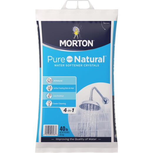 Morton Pure and Natural 40 Lb. Water Softener Salt Crystals