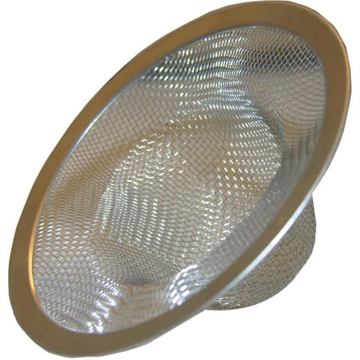 Lasco 3-5/8 In. Stainless Steel Mesh Shower Drain Strainer with Chrome Rim