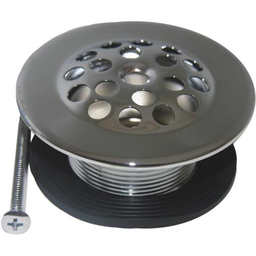 Lasco 1-1/4 In. Fine Thread Bath Shoe Tub Drain Strainer with Chrome Plated Finish