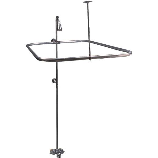 Sioux Chief 24 In. x 42 In. Chrome Brass & Chrom Shower Kit