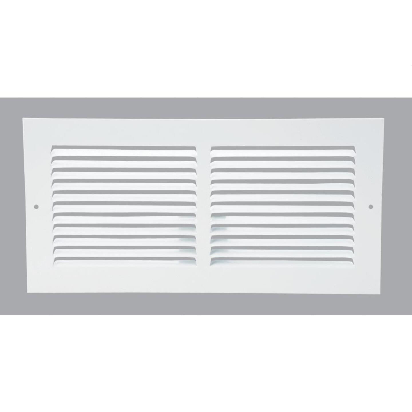 Home Impressions 6 In. x 14 In. Stamped Steel Return Air Grille Image 1