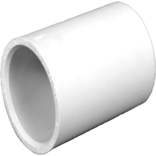 Charlotte Pipe 1/2 In. Solvent Weldable CPVC Coupling with Stop (10-Pack)