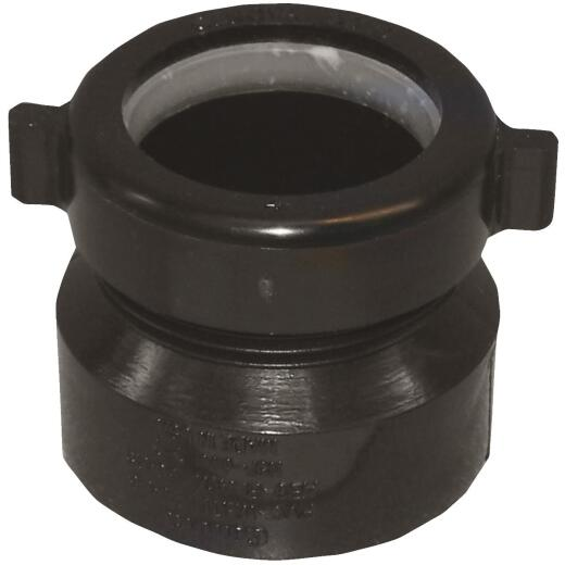 Charlotte Pipe 1-1/2 In. x 1-1/2 In. Black ABS Waste Adapter