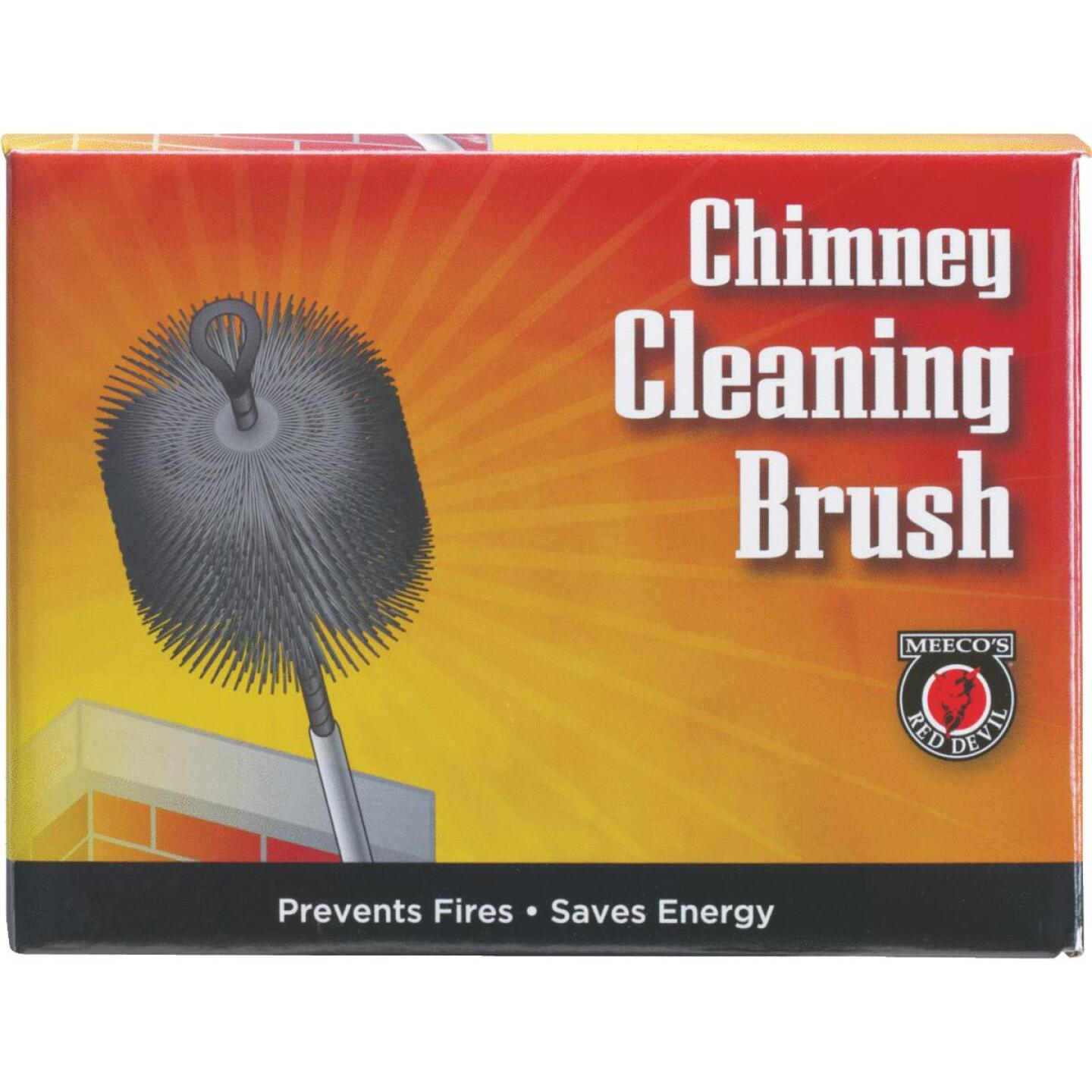Meeco's Red Devil 8 In. Round Wire Chimney Brush Image 2