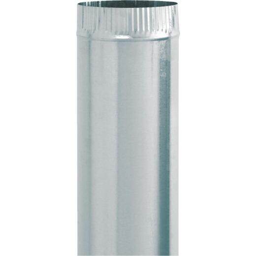 Imperial 30 Ga. 7 In. x 24 In. Galvanized Furnace Pipe