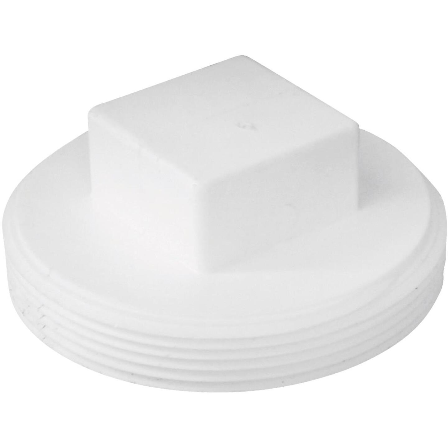Charlotte Pipe 4 In. Schedule 40 DWV Cleanout PVC Plug Image 1