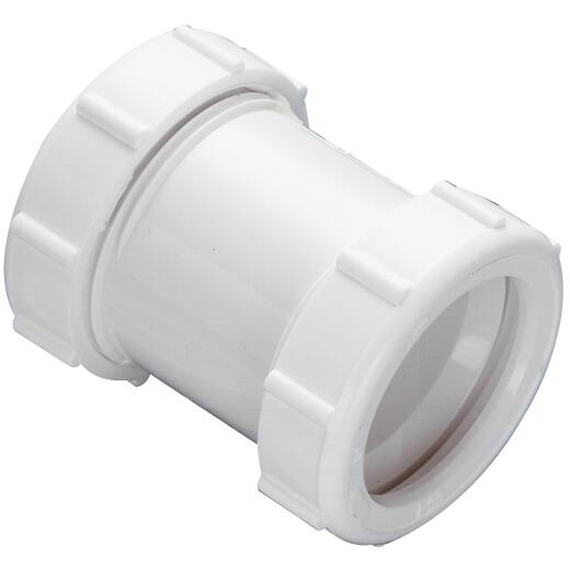 Do it 1-1/2 In. White PVC Coupling
