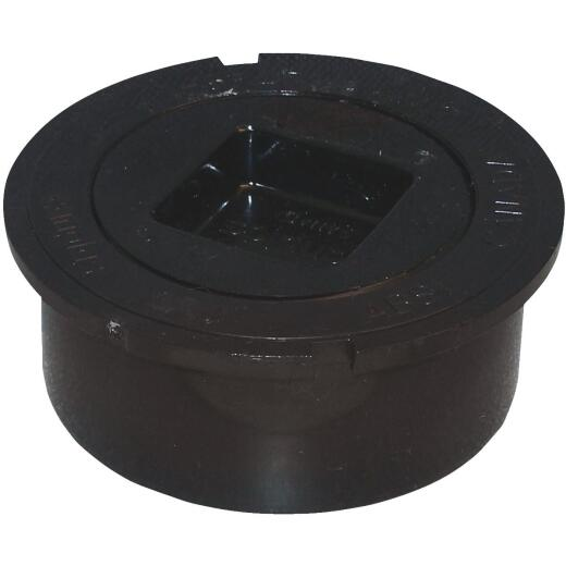 Genova 4 In. Schedule 40 DWV Snap-In PVC Cleanout with Plug