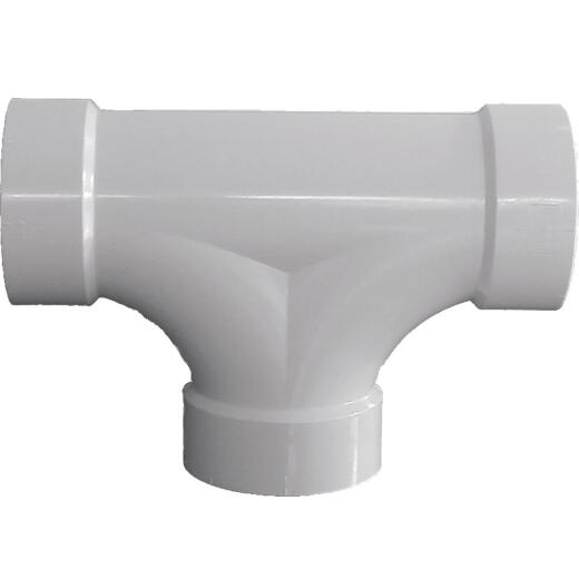 Charlotte Pipe 3 In. Schedule 40 DWV 2-Way PVC Cleanout Tee