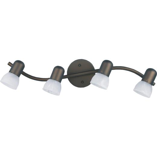Home Impressions Oil Rubbed Bronze 4-Bulb A15 or R16 Track Lighting Fixture