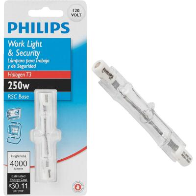 Philips 250W 120V Clear RSC Base T3 Halogen Work Light Bulb