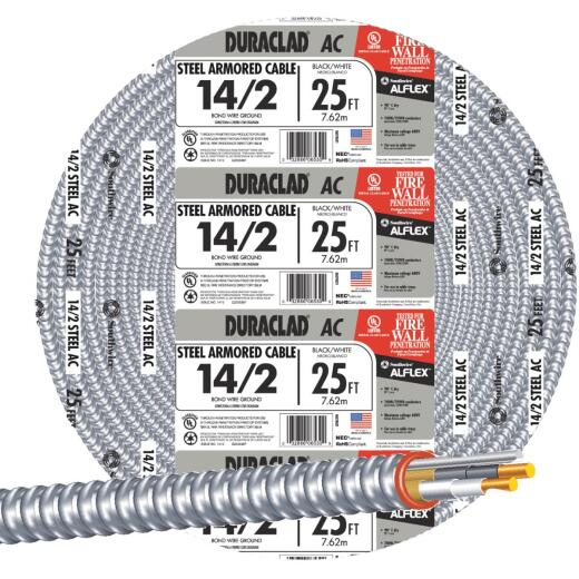 Southwire 25 Ft. 14/2 AC Armored Cable