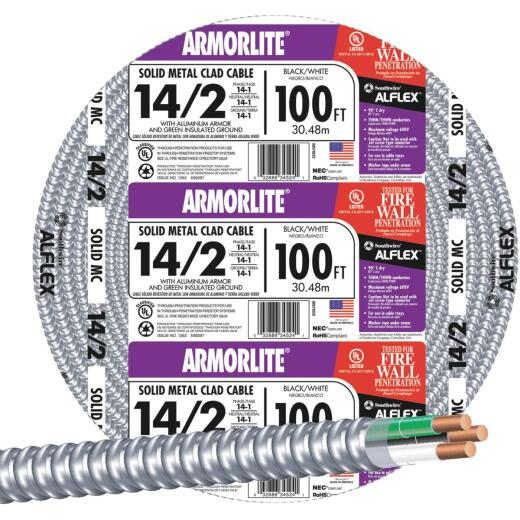 Southwire 100 Ft. 14/2 MC Armored Cable