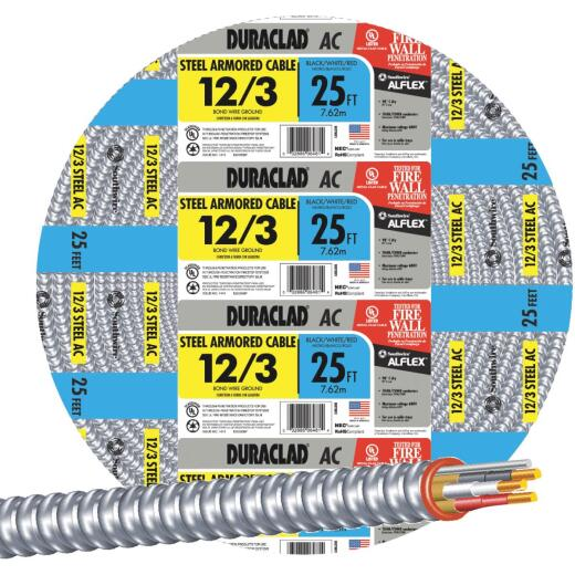 Southwire 25 Ft.12/3 AC Armored Cable