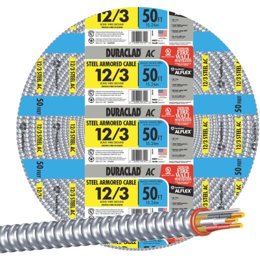 Southwire 50 Ft. 12/3 AC Armored Cable